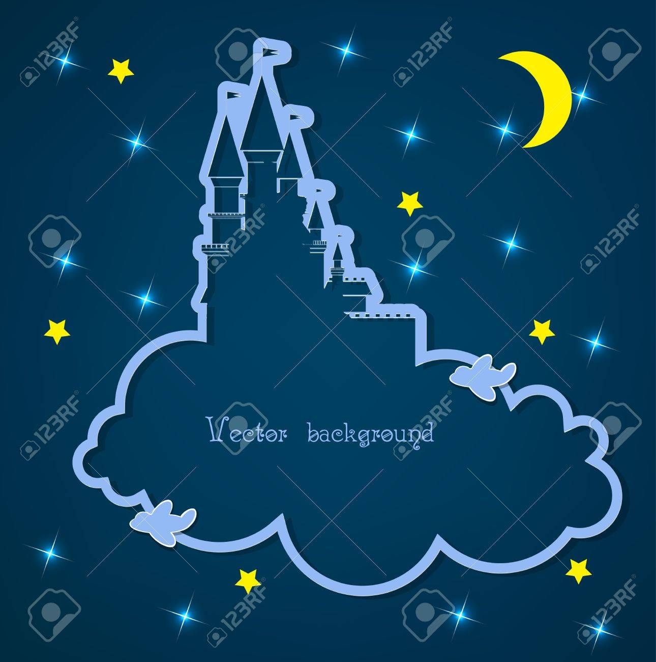 cloud and night vector Stock Vector - 11041221