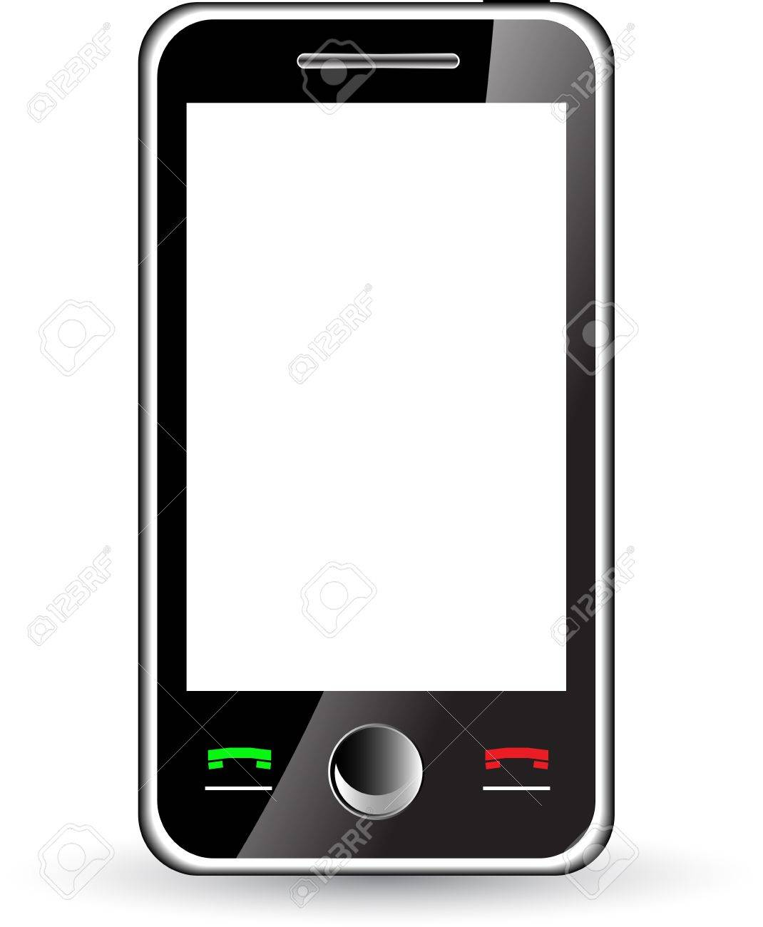 Mobile phone with white screen isolated on white Stock Vector - 11105872