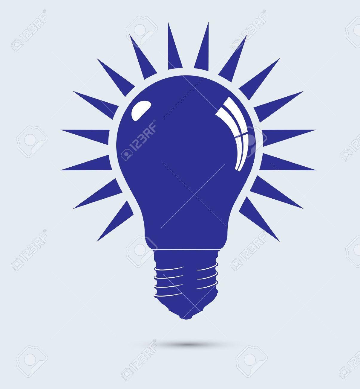 Light blue bulb. Stock Vector - 12046525