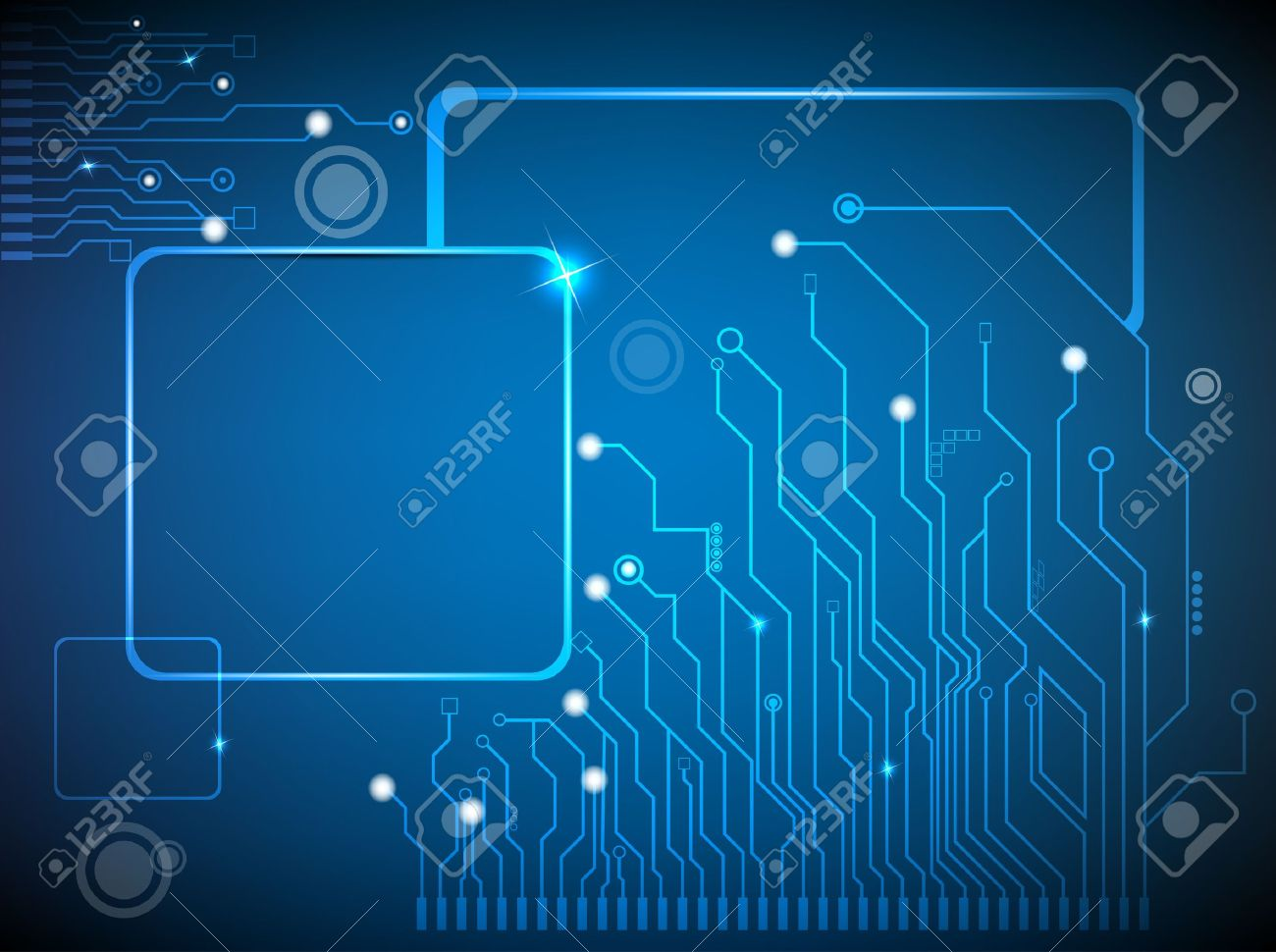 circuit board vector background - 12463800