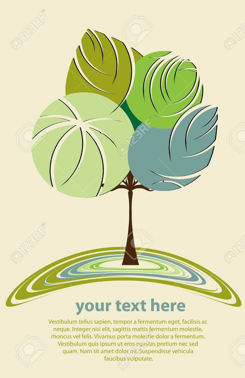 Stylized abstract tree vector Stock Vector - 12838304