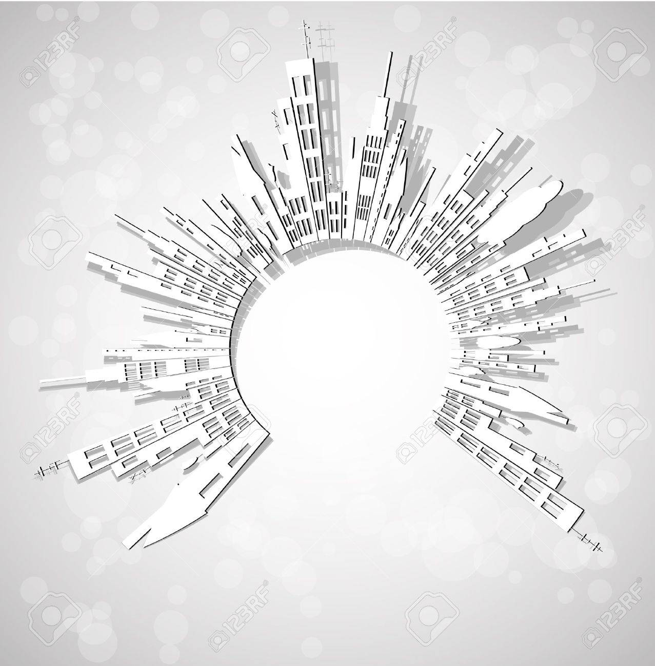 abstract city real estate Stock Vector - 13108463