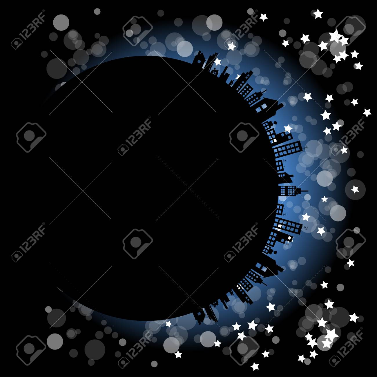 City in the night abstract Stock Vector - 13214312