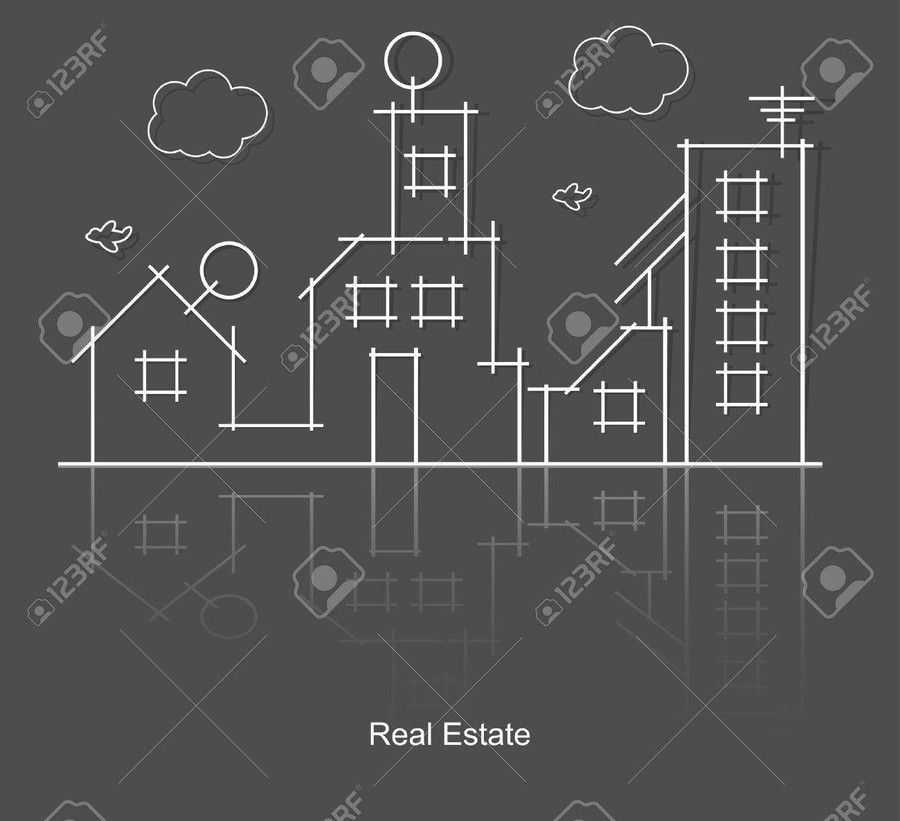 city real estate circuit project Stock Vector - 13768130