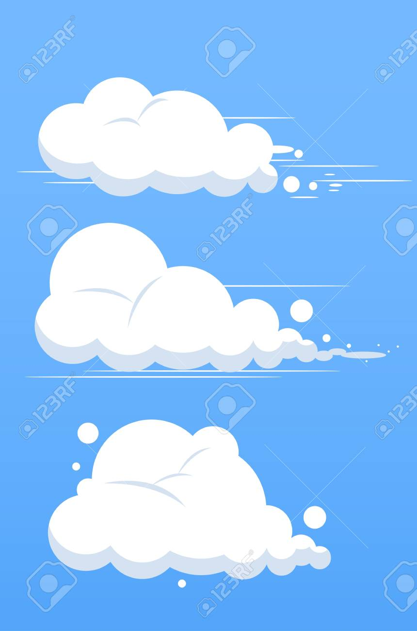set of clouds Stock Vector - 13828171