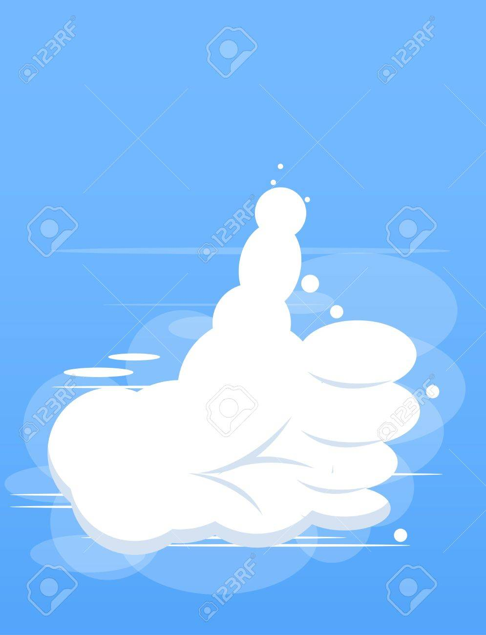 cloud hand Stock Vector - 13828172