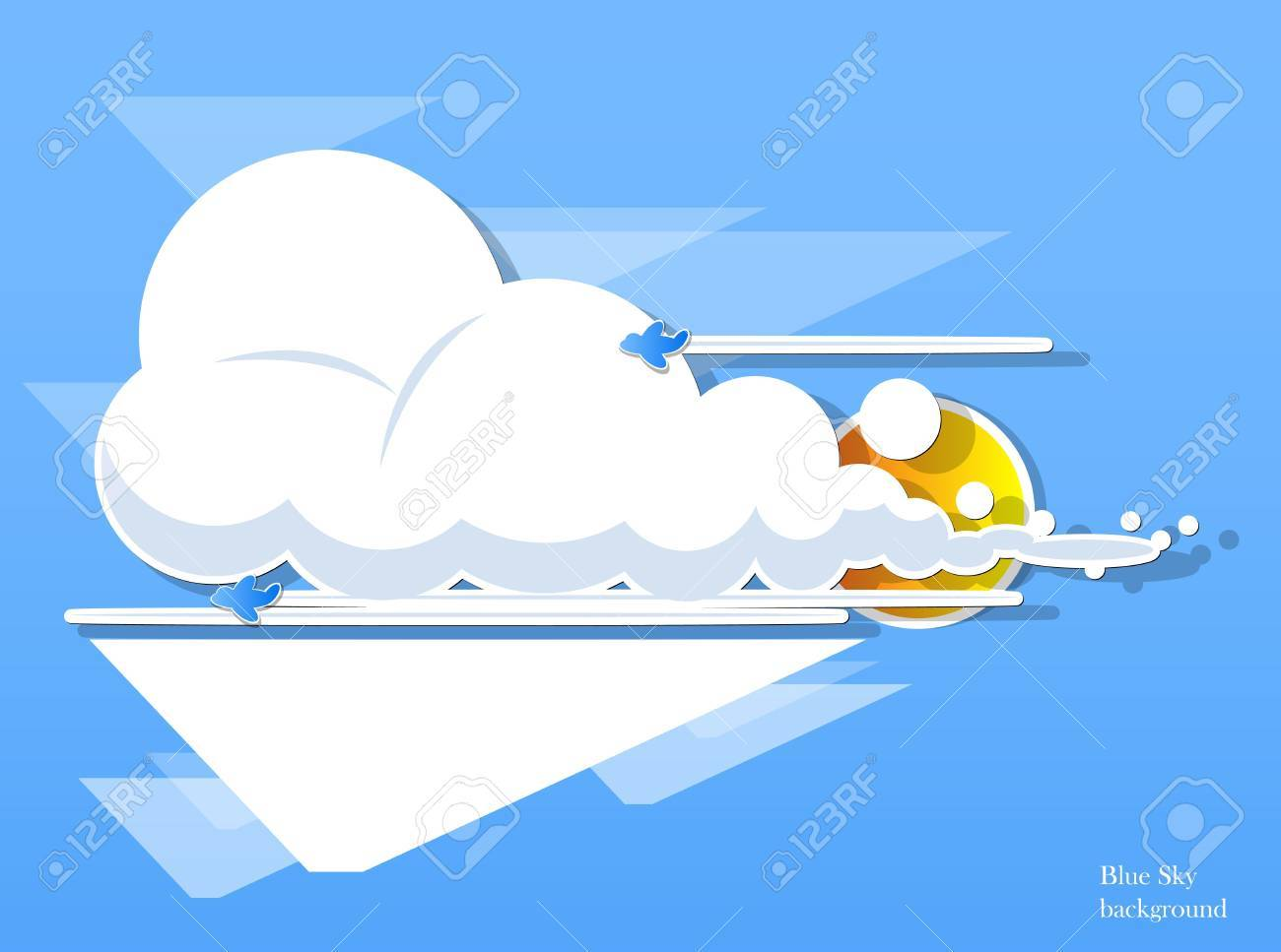 abstract clouds background Stock Vector - 13828179