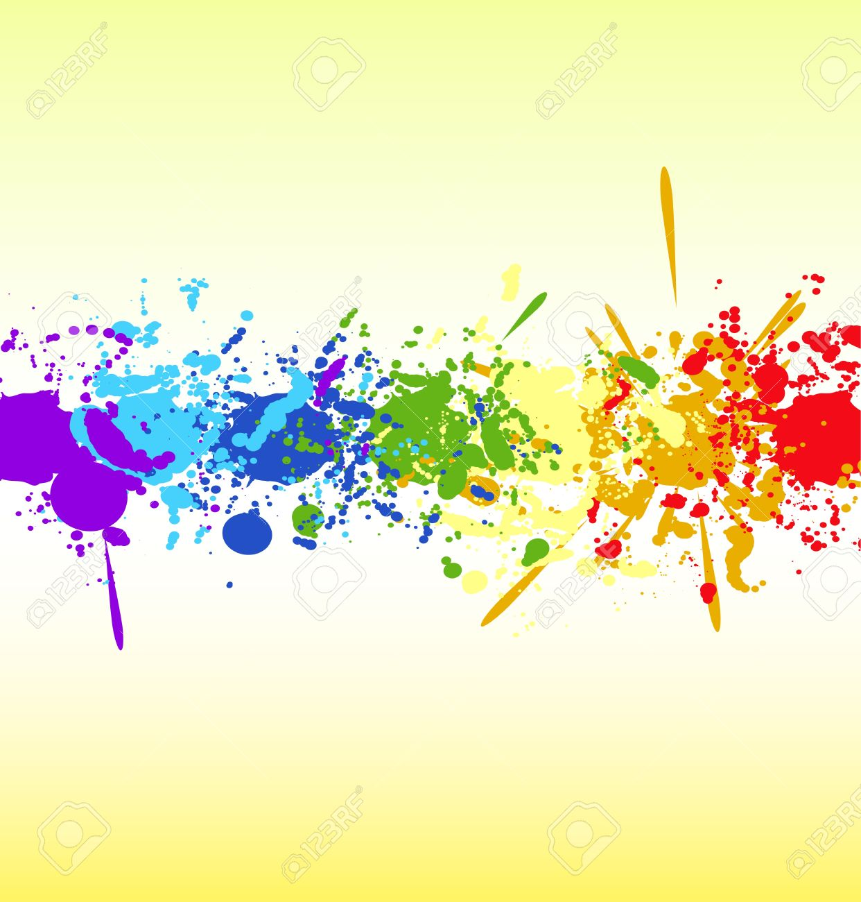 Color rainbow paint splashes for background Stock Vector - 13980242