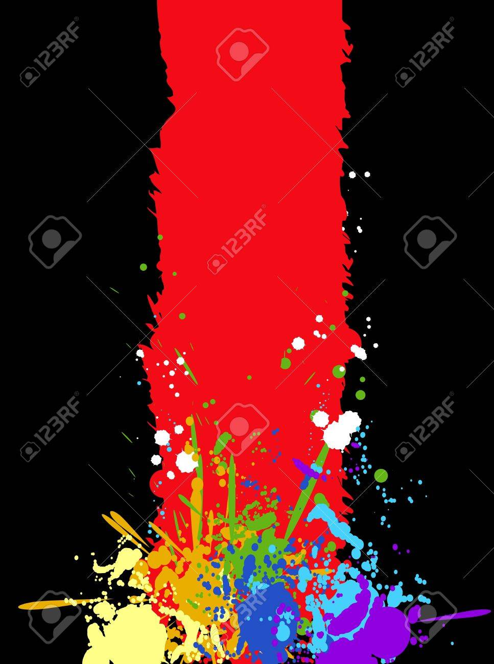 Color rainbow paint splashes for background Stock Vector - 14066771