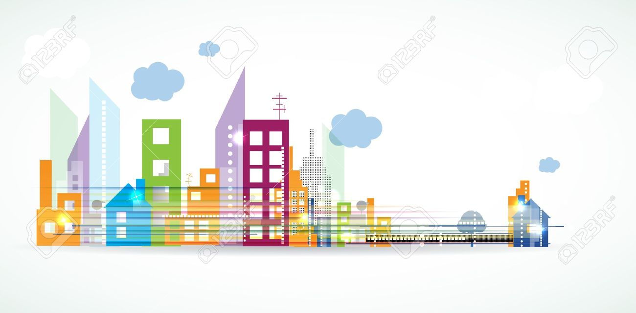 City Landscape Real Estate Background Banner Royalty Free Cliparts Vectors And Stock Illustration Image 14384823