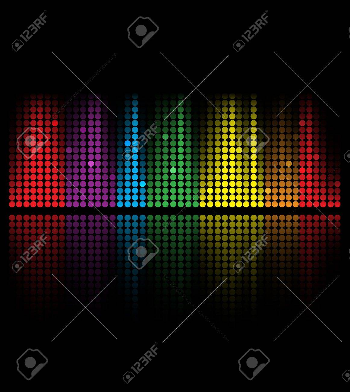 abstract music volume equalizer concept idea background Stock Vector - 15136365