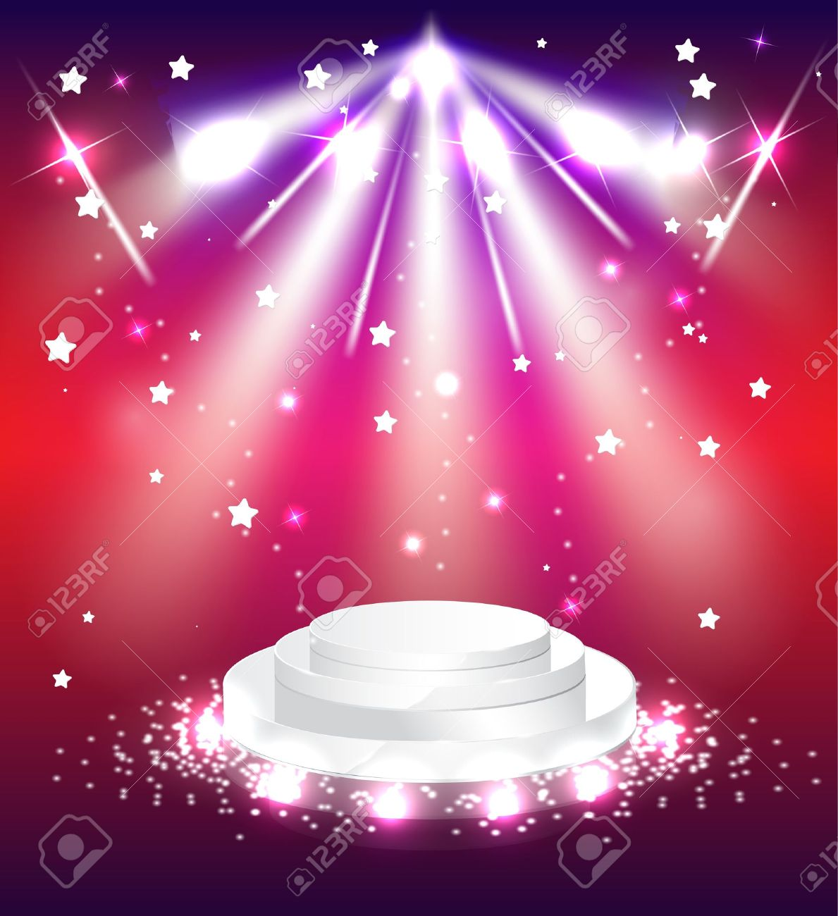 podium with lights scene background stage Stock Vector - 15379613