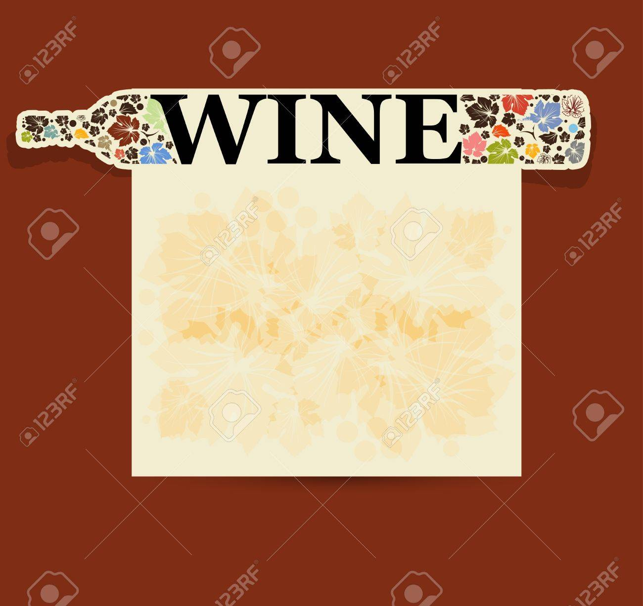 abstract drink background alcohol wine bottle Stock Vector - 15550770