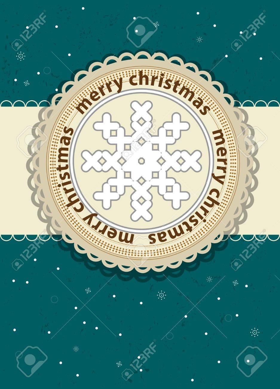 merry christmas card background with flake Stock Vector - 15553775