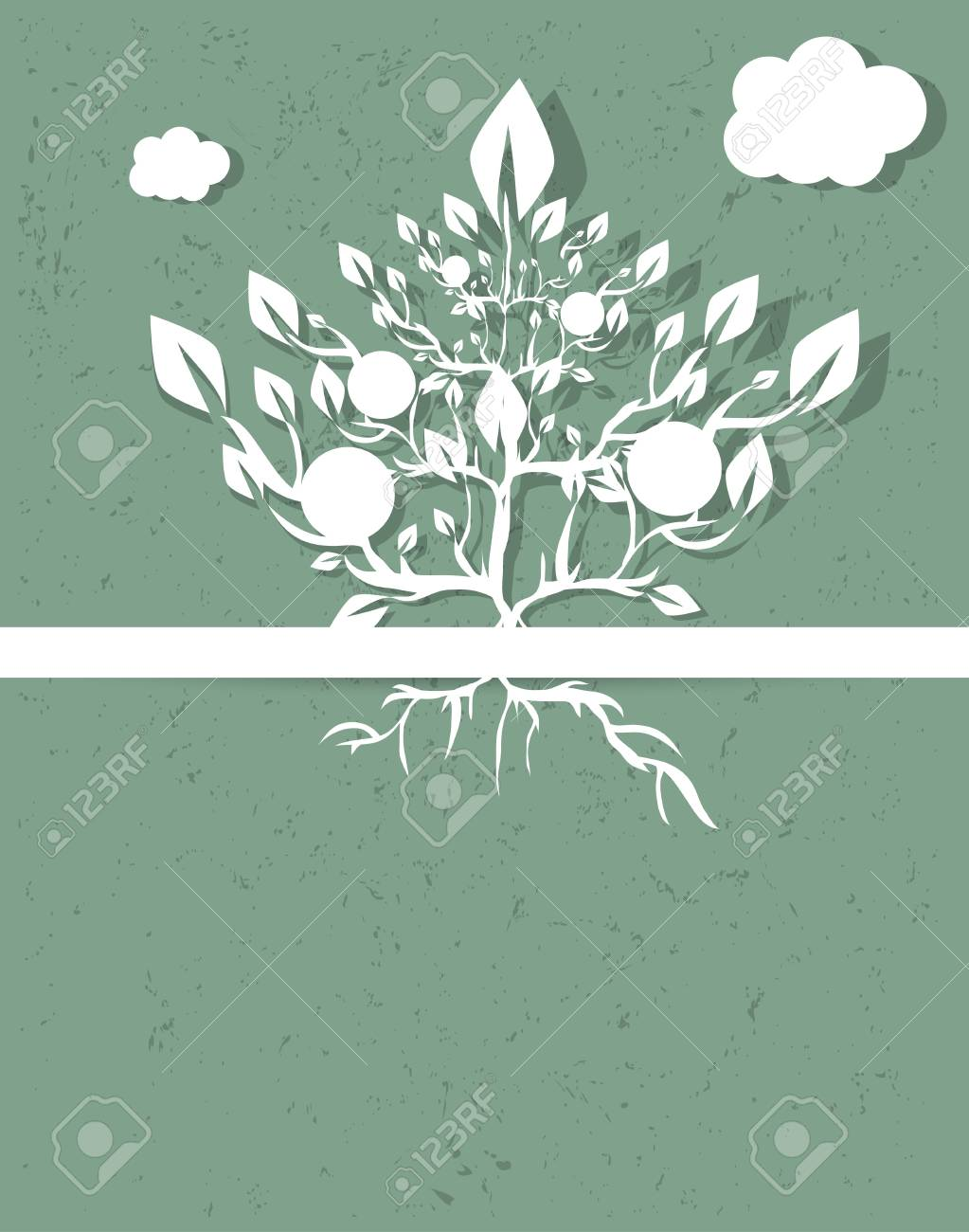 abstract retro tree vector background Stock Vector - 15576524