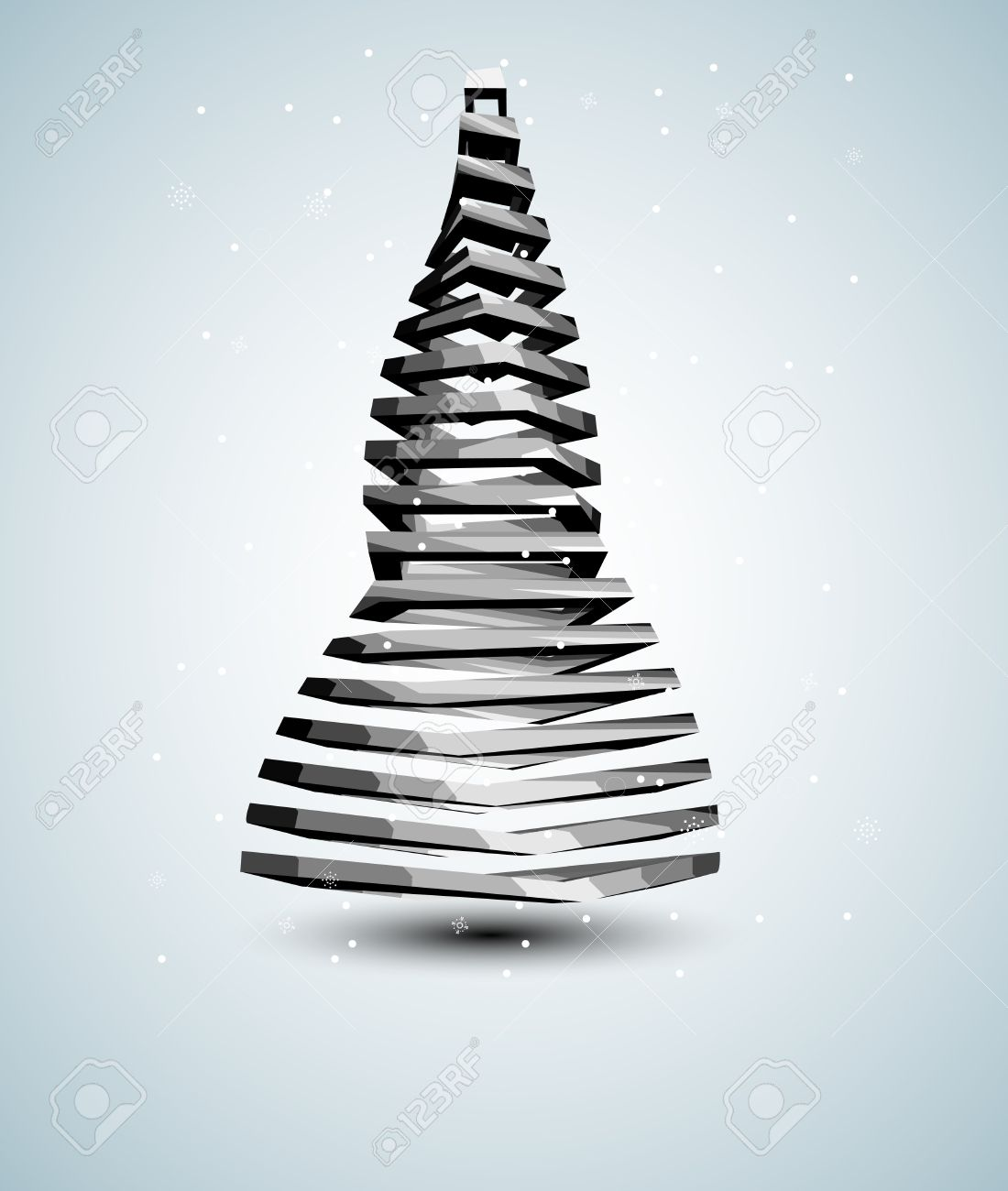 abstract iron christmas tree card stock vector 15756483 - Iron Christmas Tree
