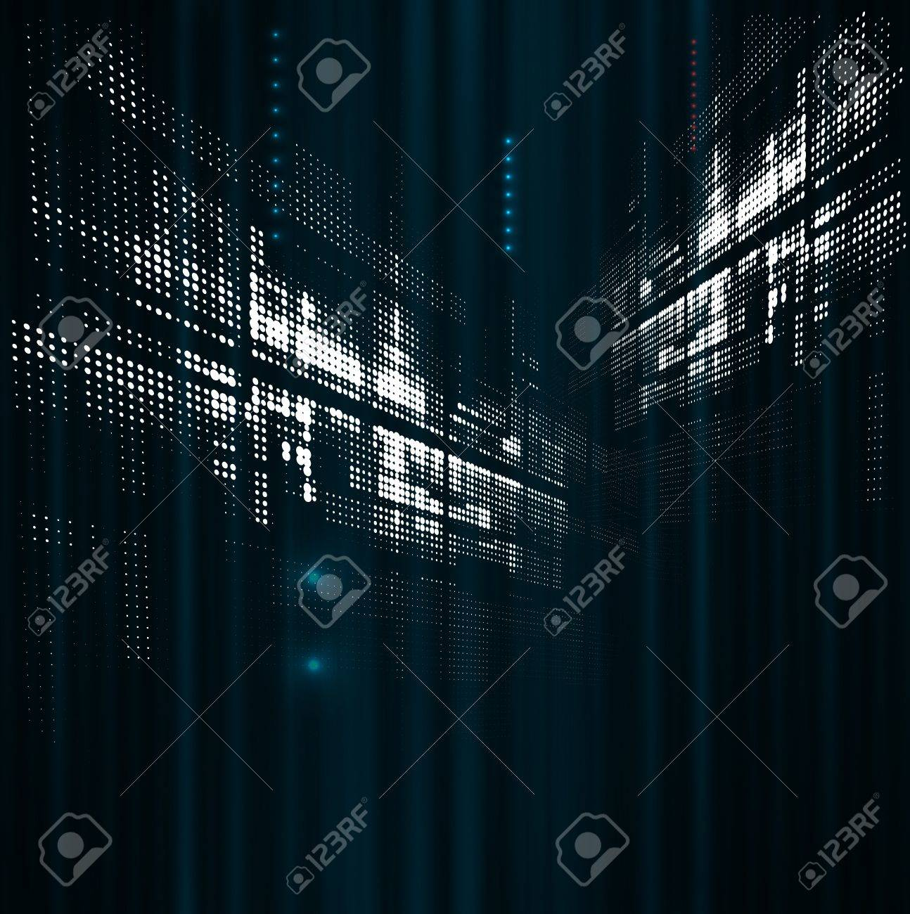 Abstract space dot technology fade dynamic background Stock Vector - 16576668