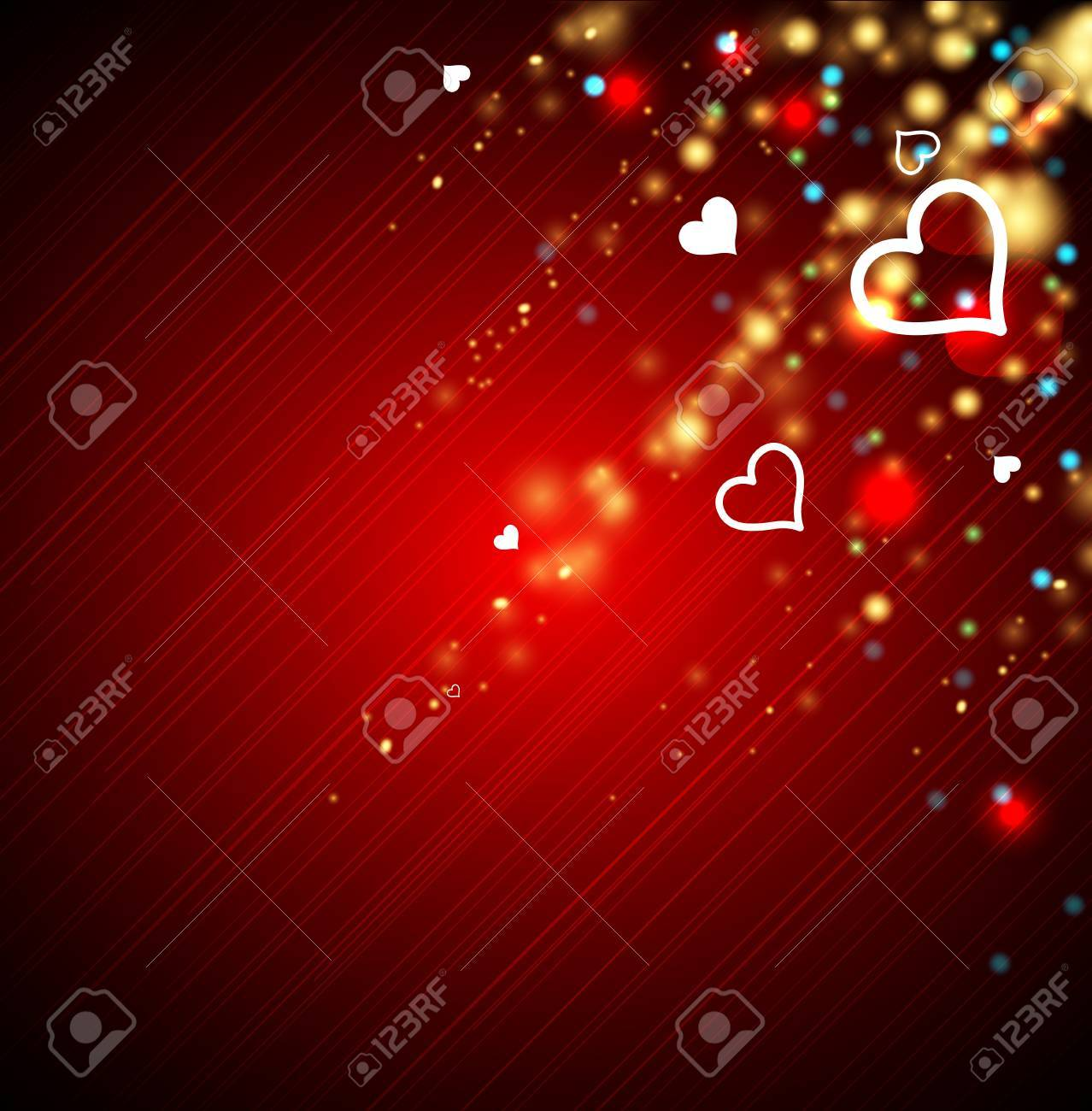Heart salute valentine background with heart Stock Vector - 16906227