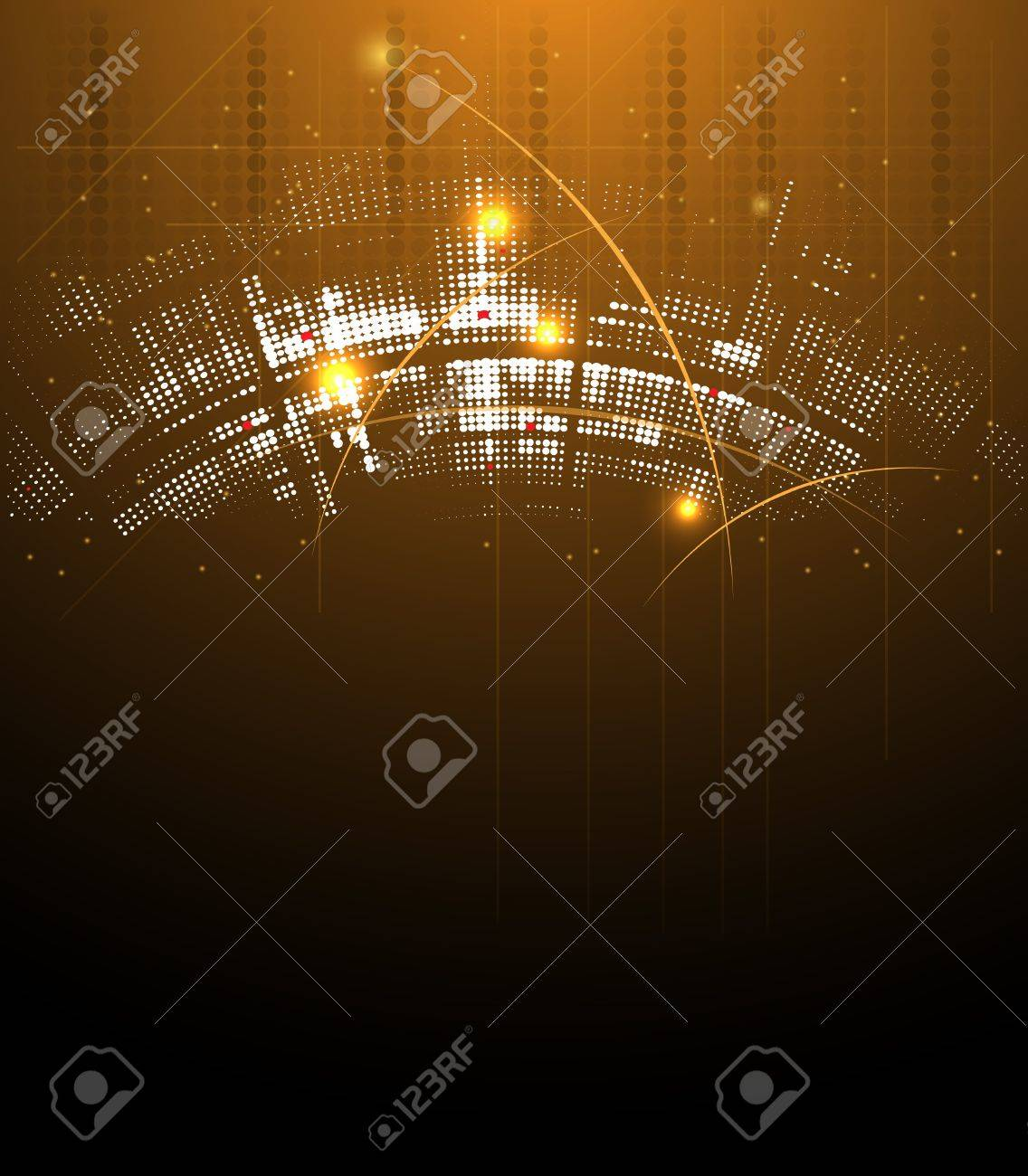 abstract futuristic night technology business banner background Stock Vector - 16906236