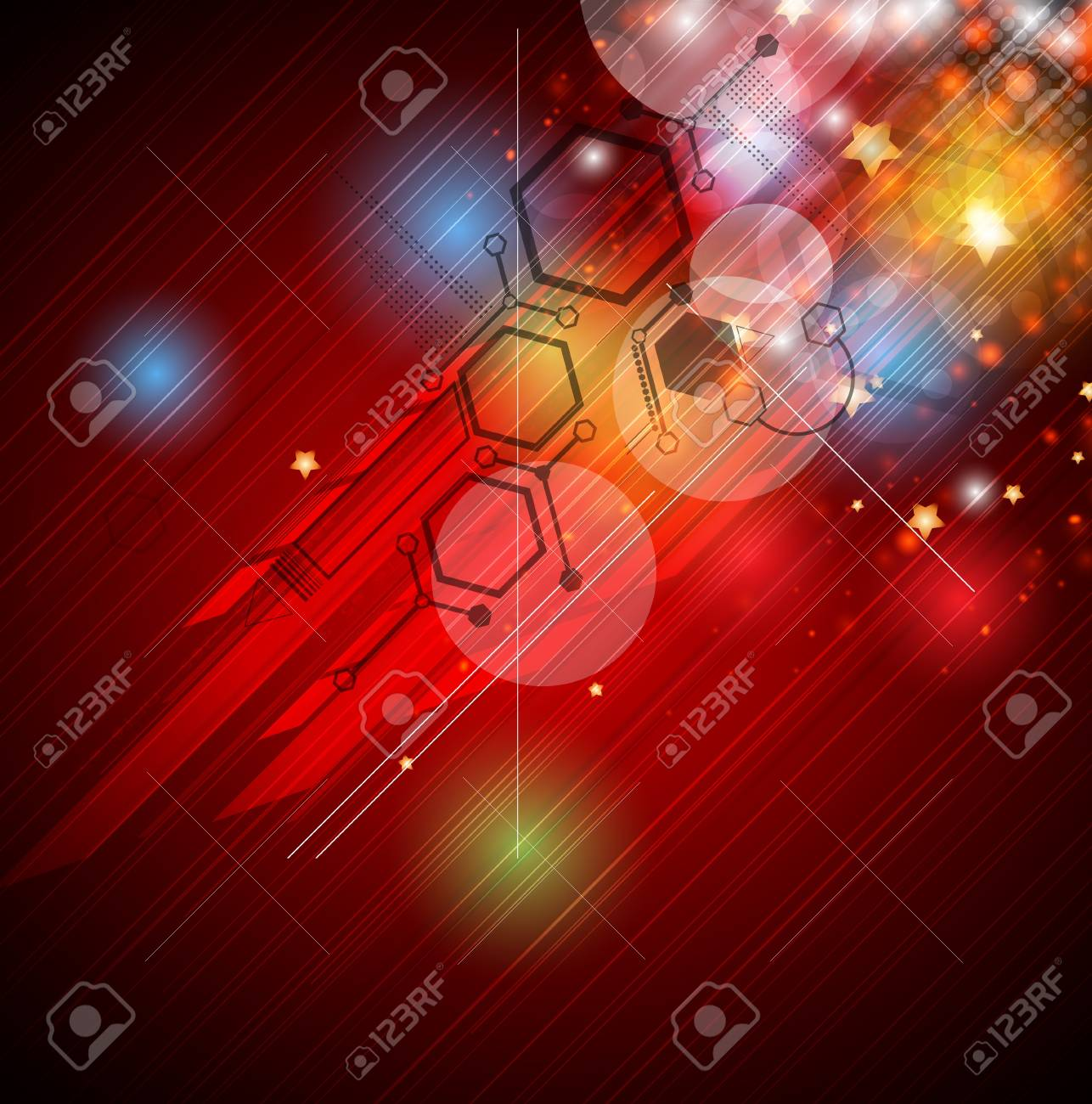 abstract computer technology connection business background Stock Vector - 17105539
