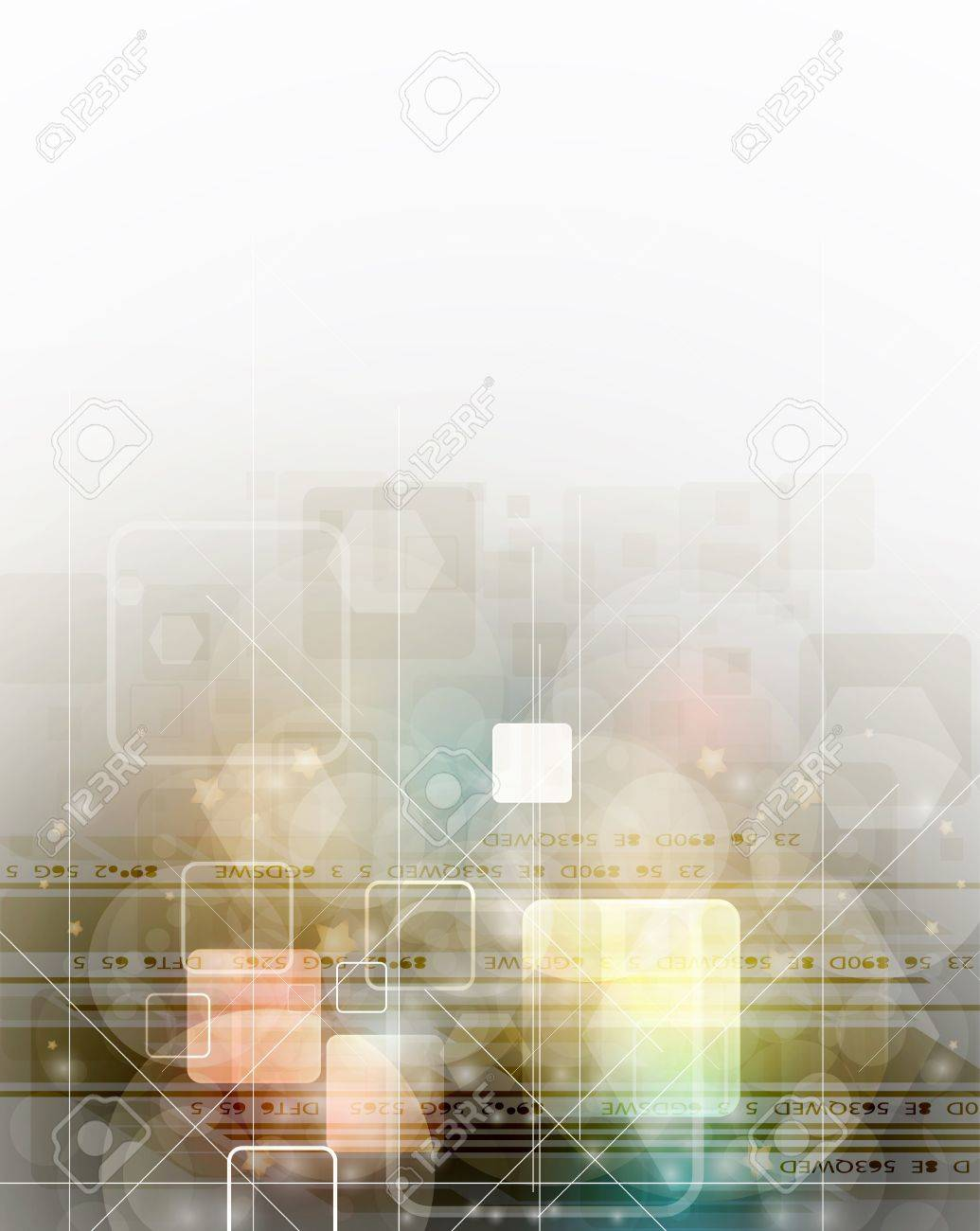 Abstract Color Technology Business Flyer Background Stock Vector