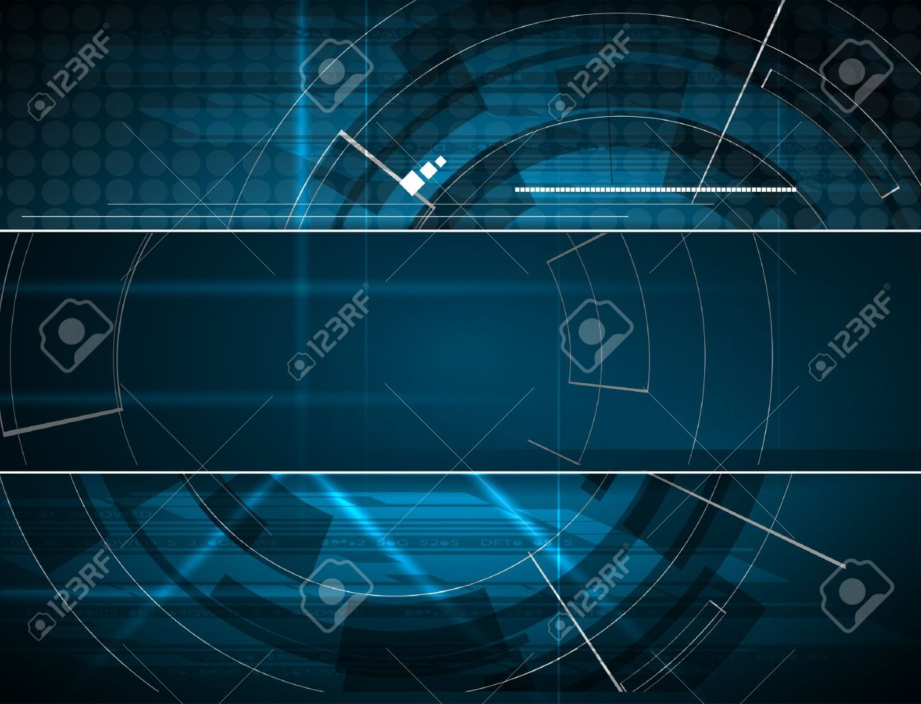 abstract blue computer technology business banner background - 17388709