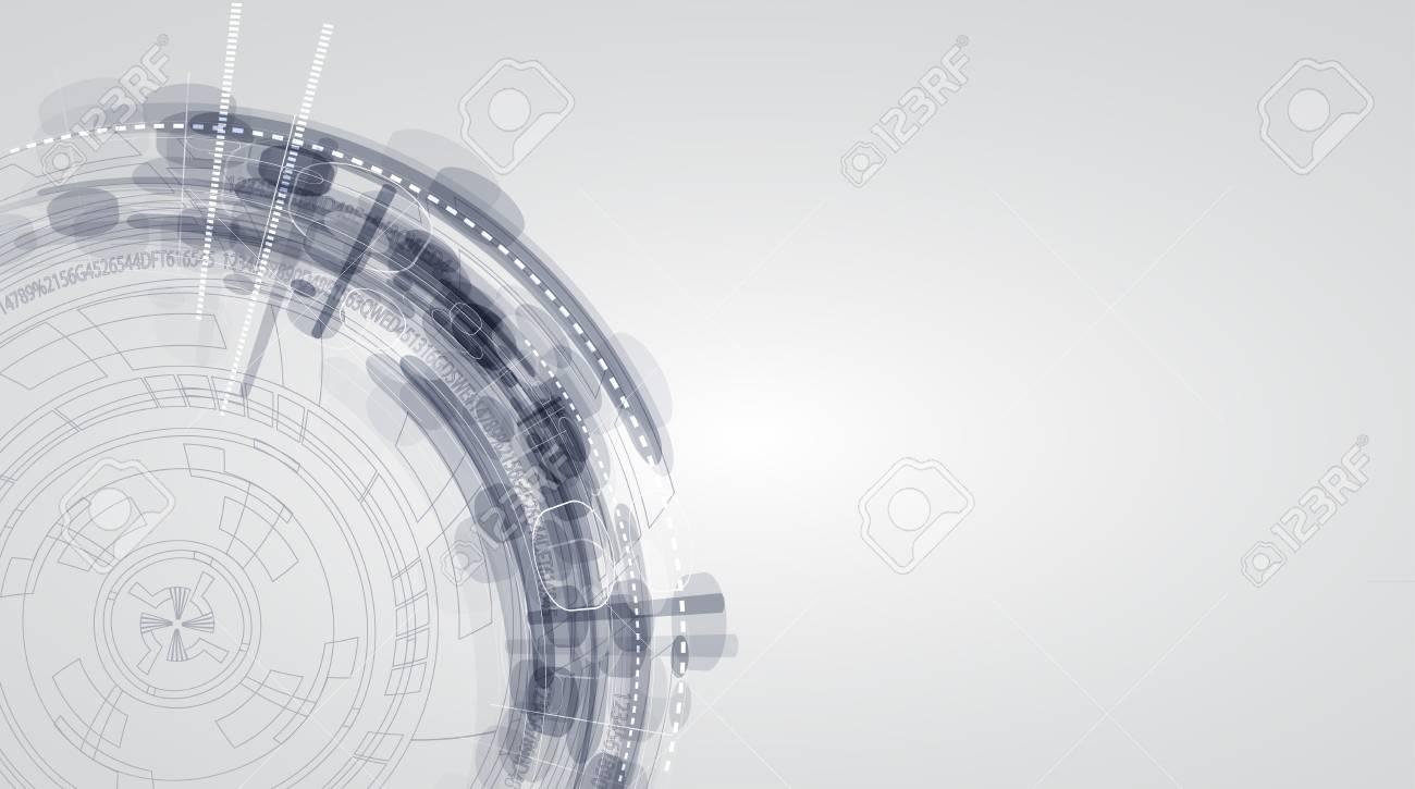 abstract color computer technology Stock Vector - 17468262