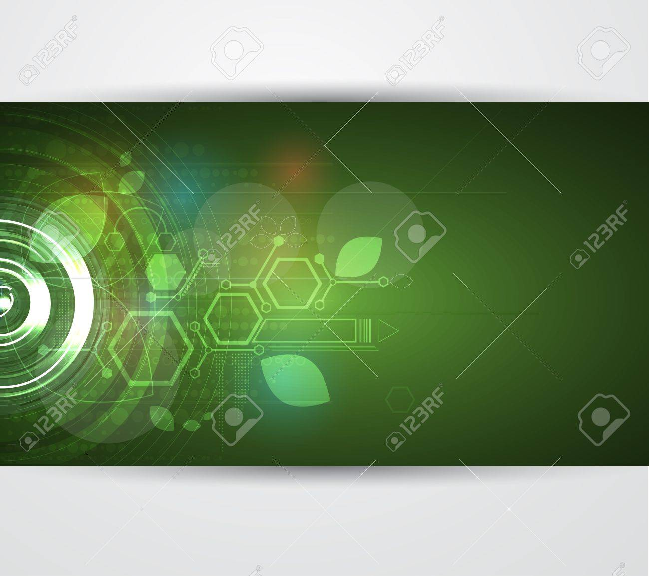 abstract green ecology computer technology business background Stock Vector - 17468252