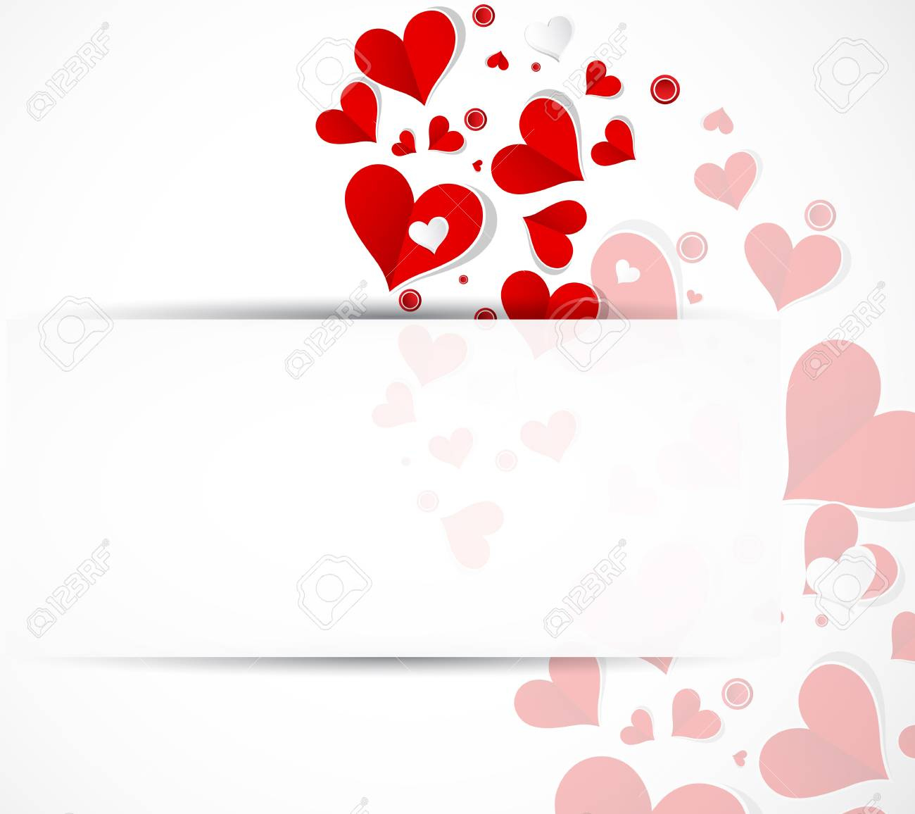 happy valentine day background with love hearts banner royalty free
