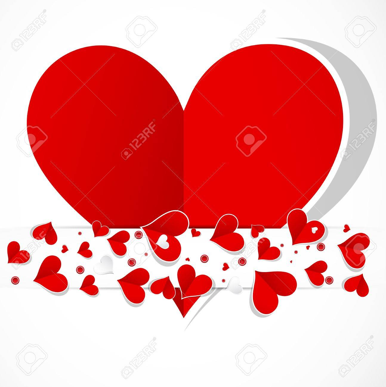 happy valentine day with love hearts card royalty free cliparts