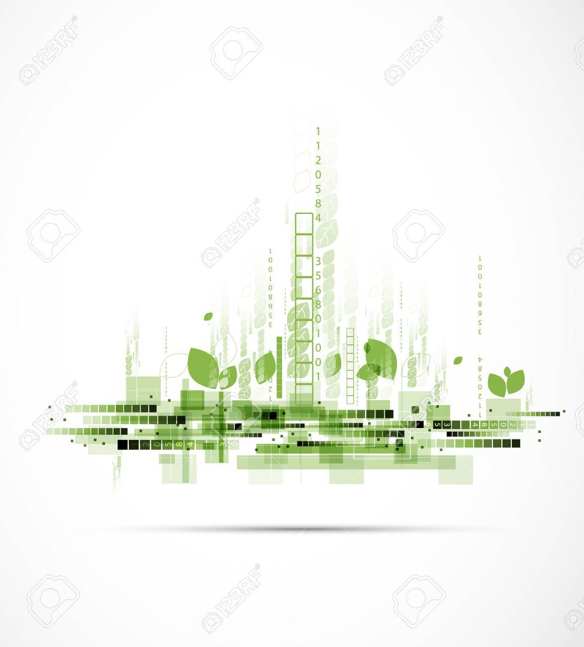 abstract eco futuristic high computer technology business background Stock Vector - 17854787