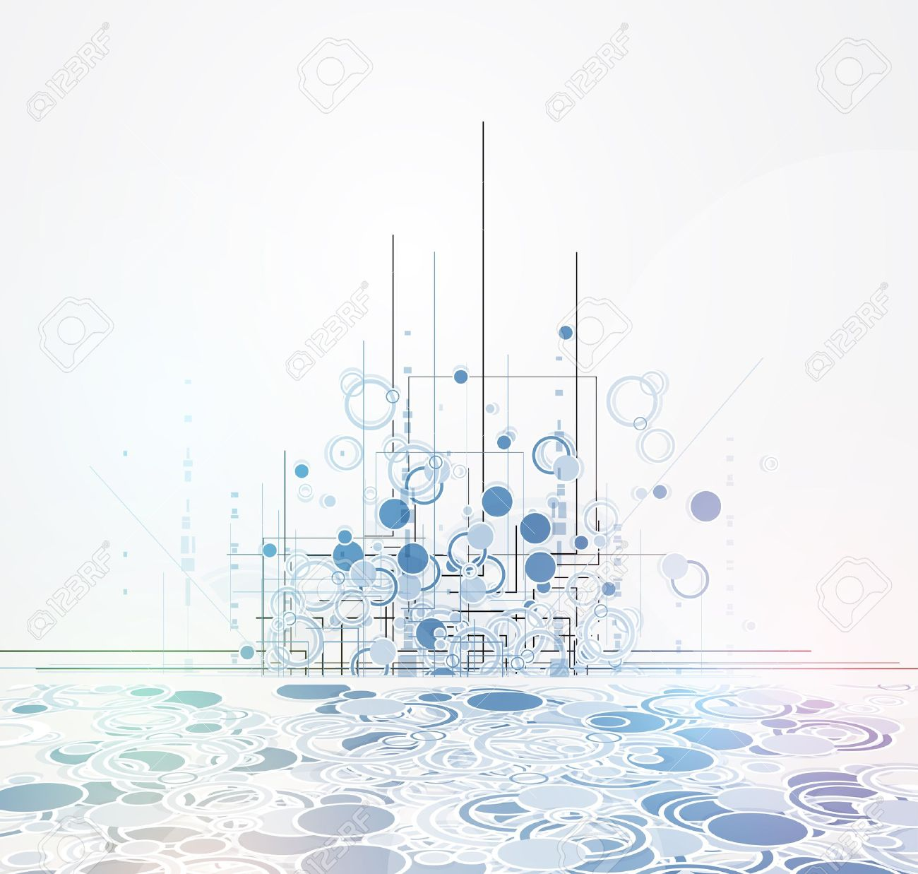 abstract futuristic fade computer technology business background Stock Vector - 18425333