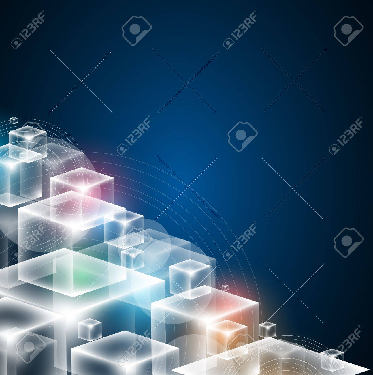 high tech infinity cube computer technology concept business background Stock Vector - 20021476