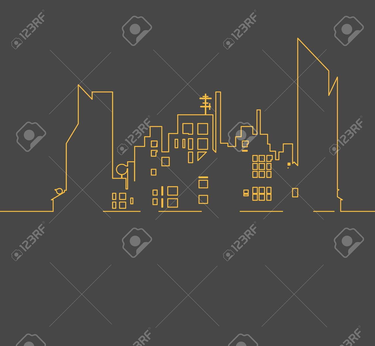 real estate city built house business background Stock Vector - 21075152