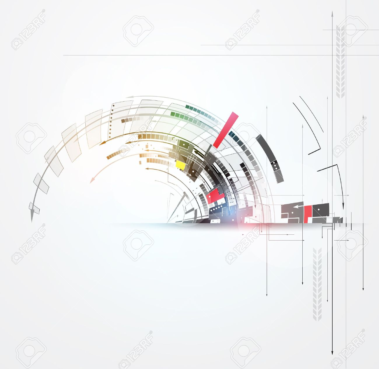 science futuristic internet high computer technology business background Stock Vector - 21319811