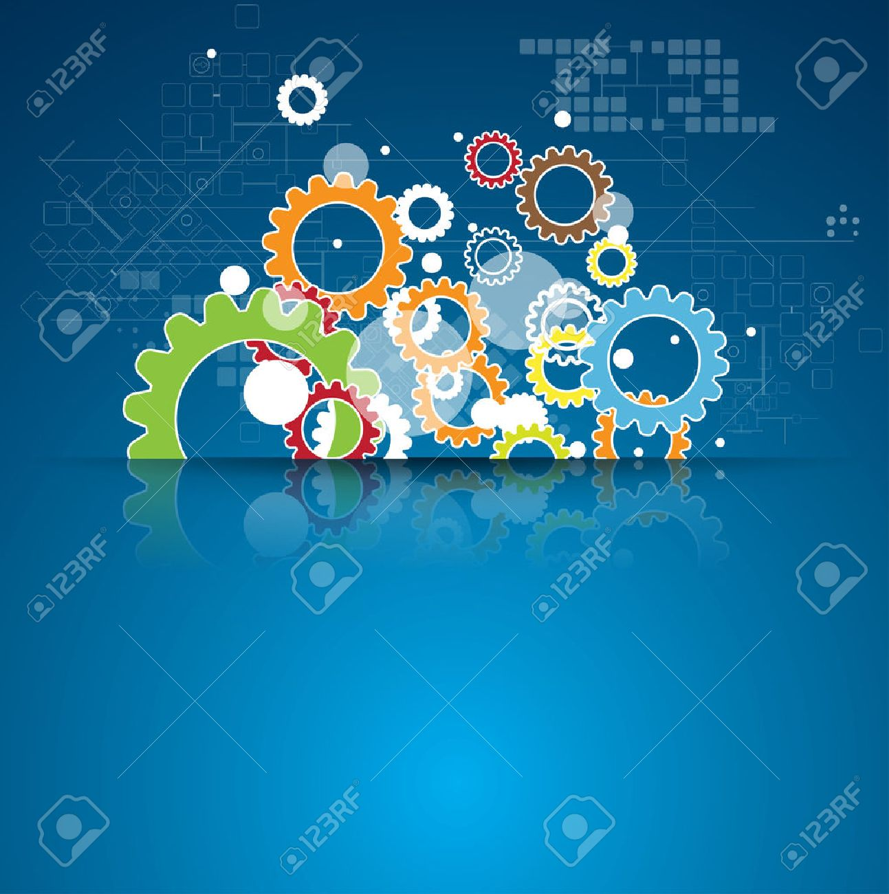 abstract global infinity computer  technology concept business background Stock Vector - 22262031