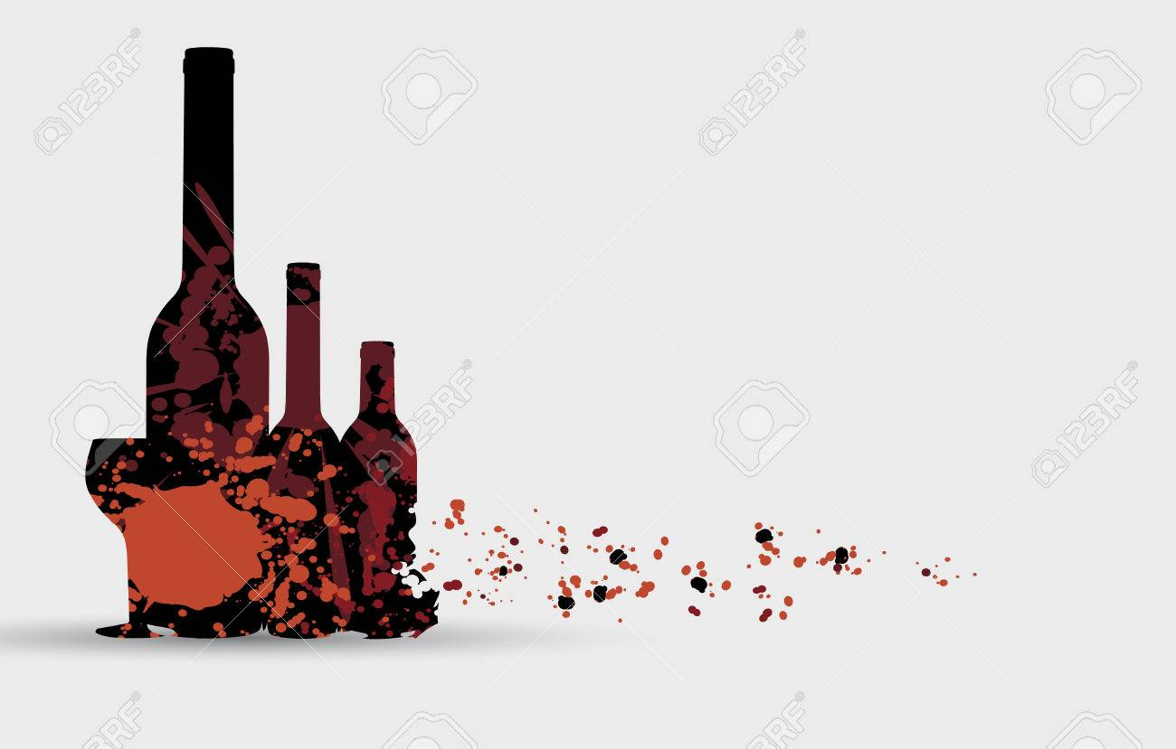 Wine Menu Card Design With Glass Background Royalty Free Cliparts ...
