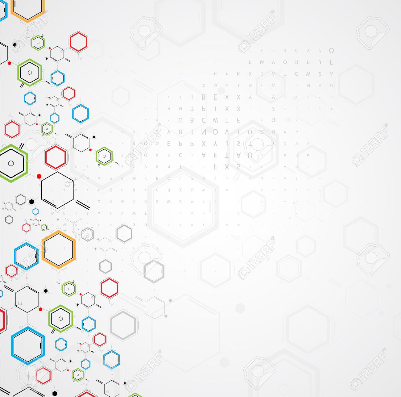 abstract chemical formula technology business science background - 25299188