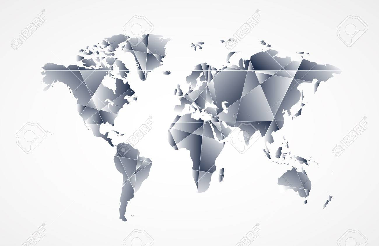 Abstract world map background in polygonal style vector format abstract world map background in polygonal style vector format stock vector 25882658 gumiabroncs Gallery