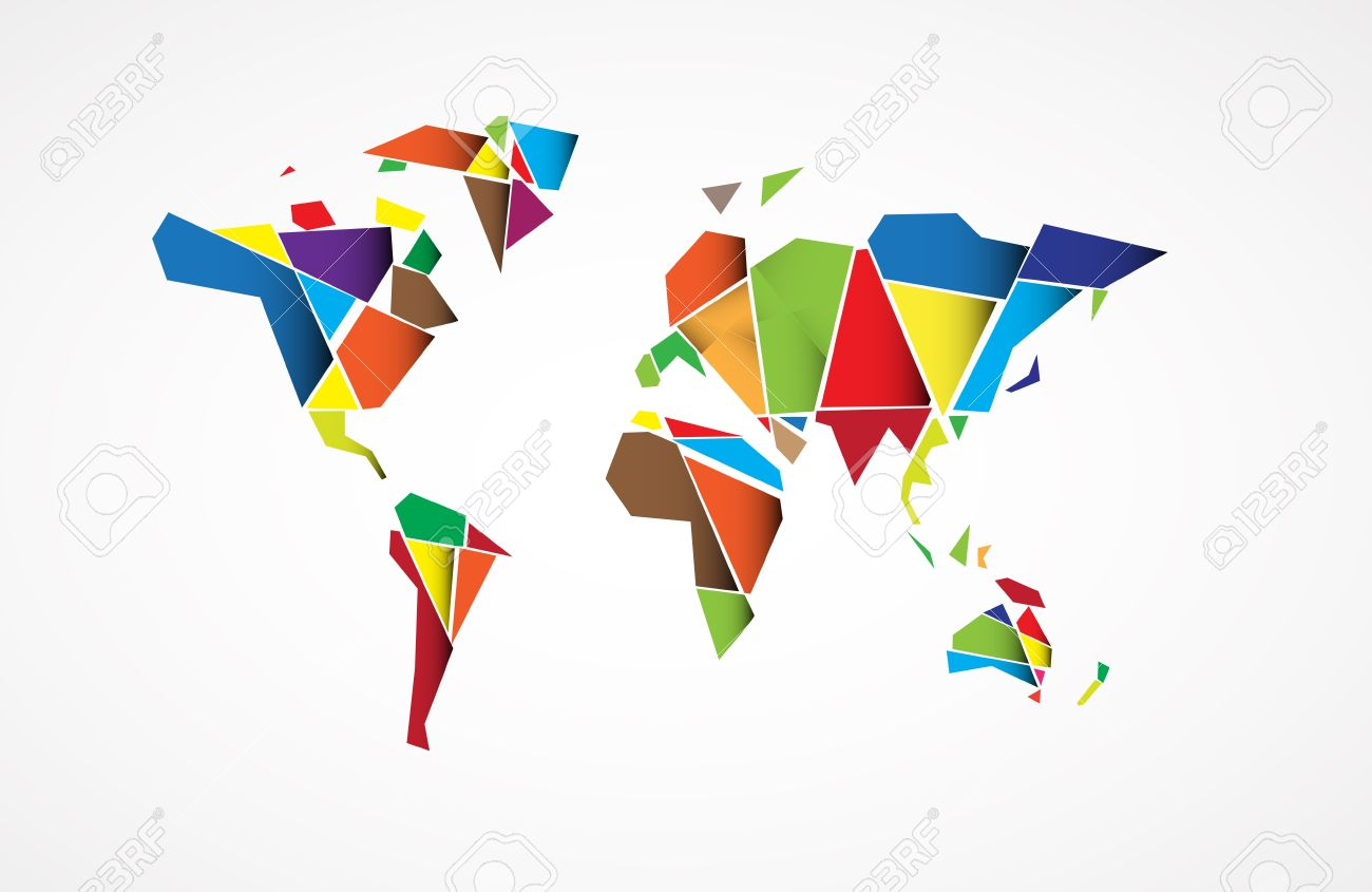 Abstract world map background in polygonal style vector format abstract world map background in polygonal style vector format stock vector 25882659 gumiabroncs Gallery