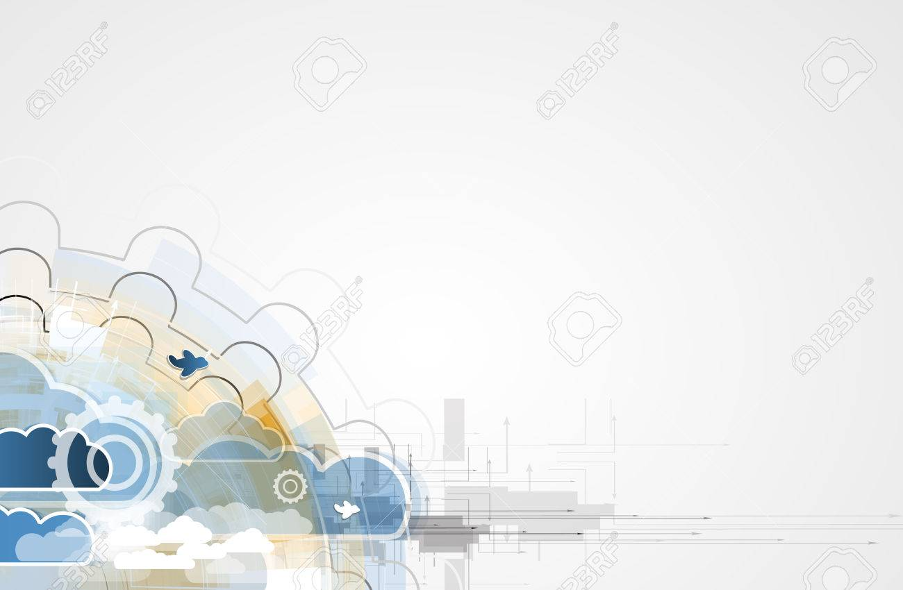 Perfekt Modell Der Integrationstechnik Mit Wolke Am Himmel. Beste Ideen Für  Business Präsentation Standard