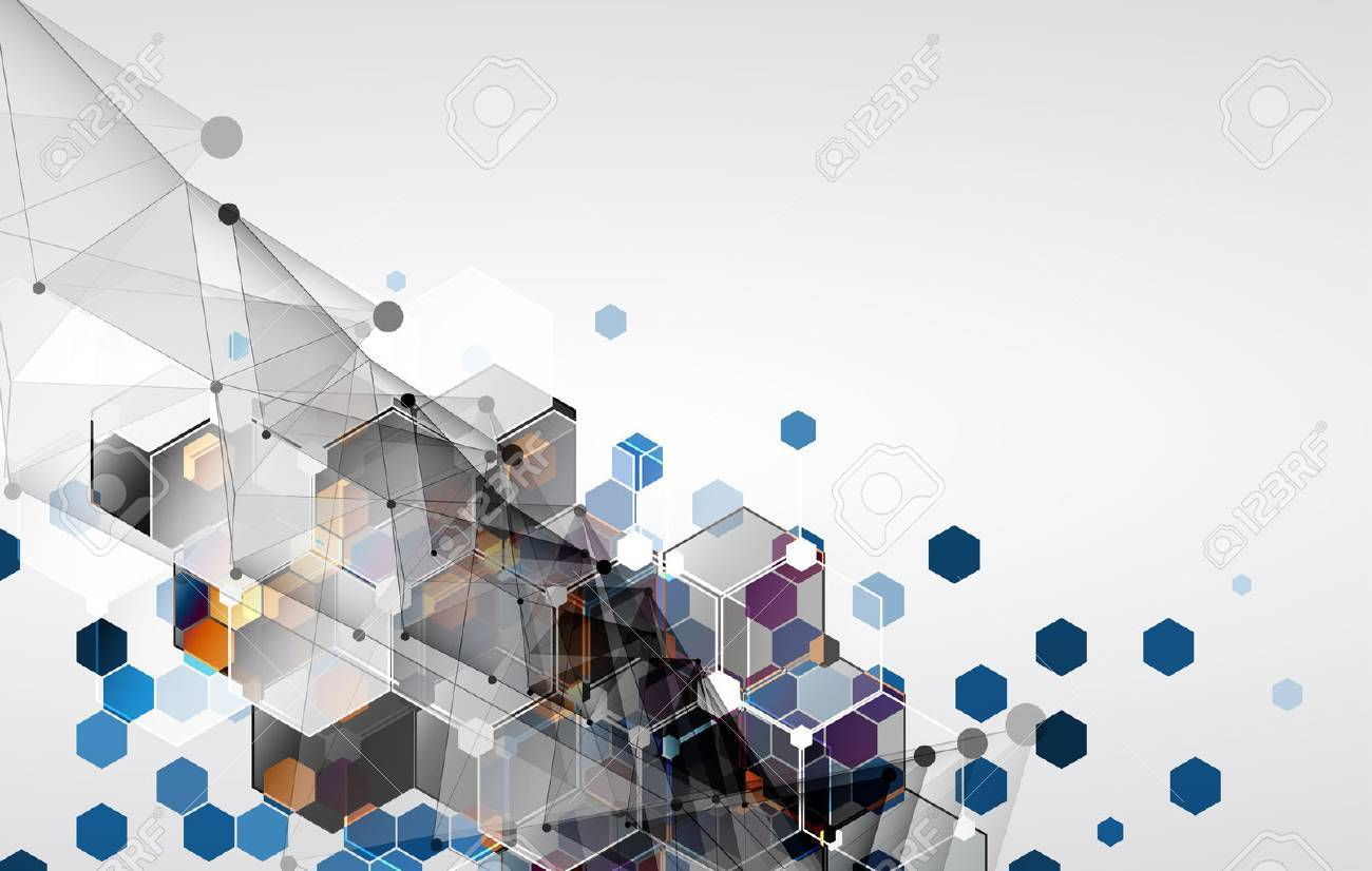 New future technology concept abstract background for business solution - 39876807