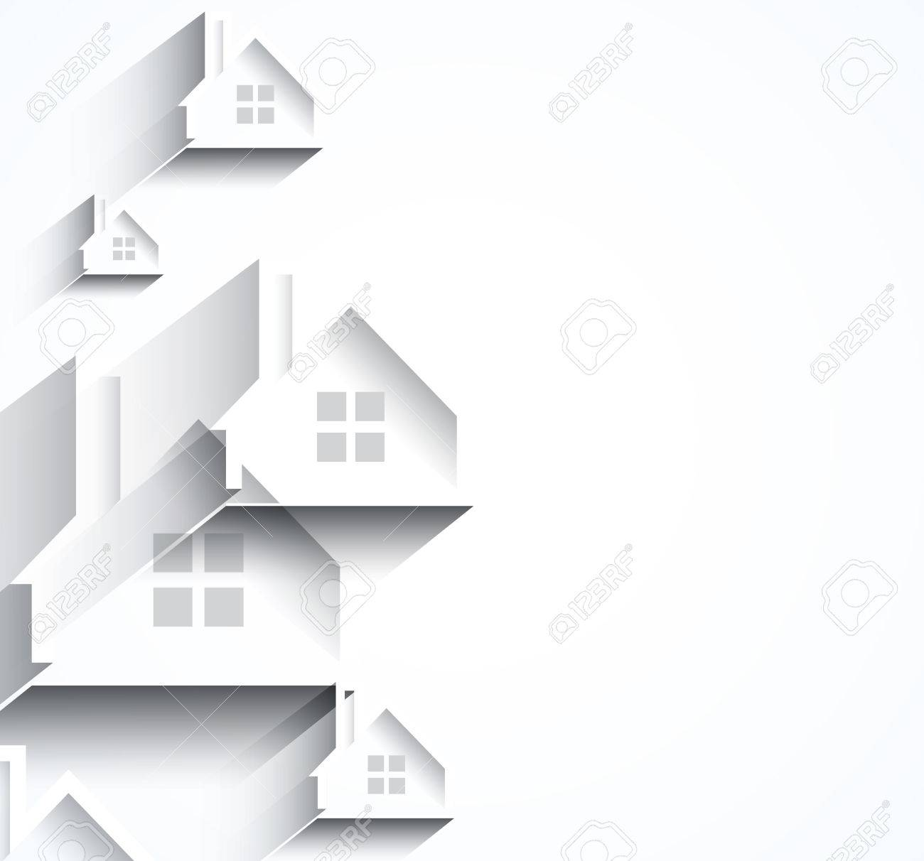 Building and real estate city illustration  Abstract background