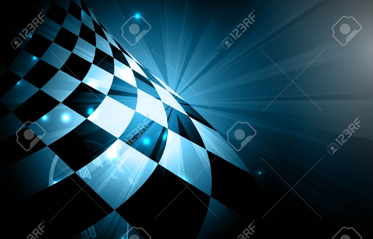 Racing square background, vector abstraction in racing car track - 55577707