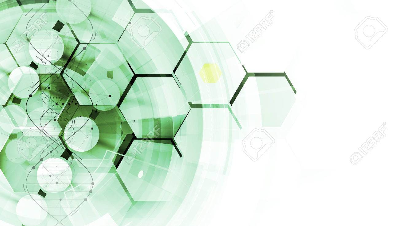 dna and medical and technology background. futuristic molecule structure presentation. for business solution - 61547610