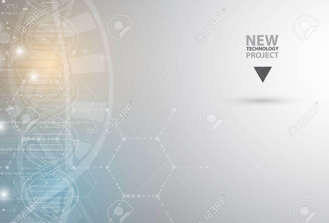 dna and medical and technology background. futuristic molecule structure presentation. for business solution - 61547665