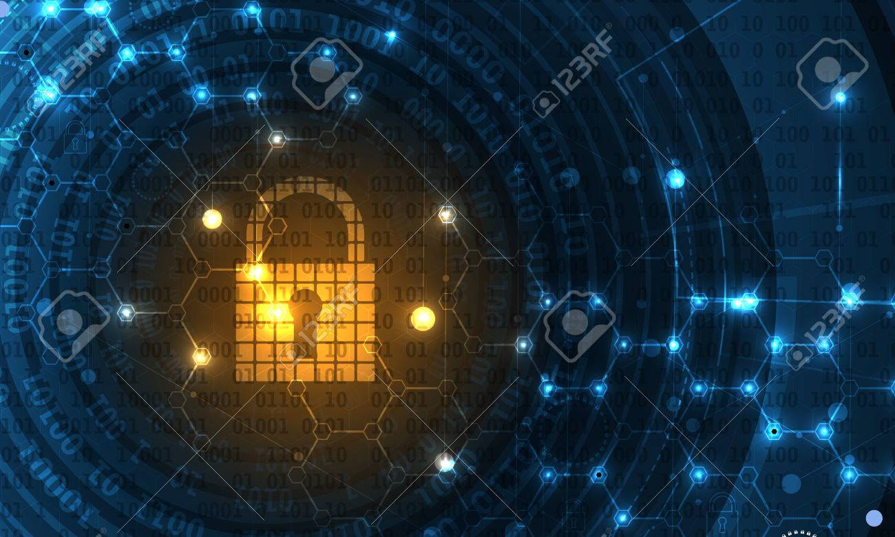 Technology security concept. Modern safety digital background. Protection system - 71689798