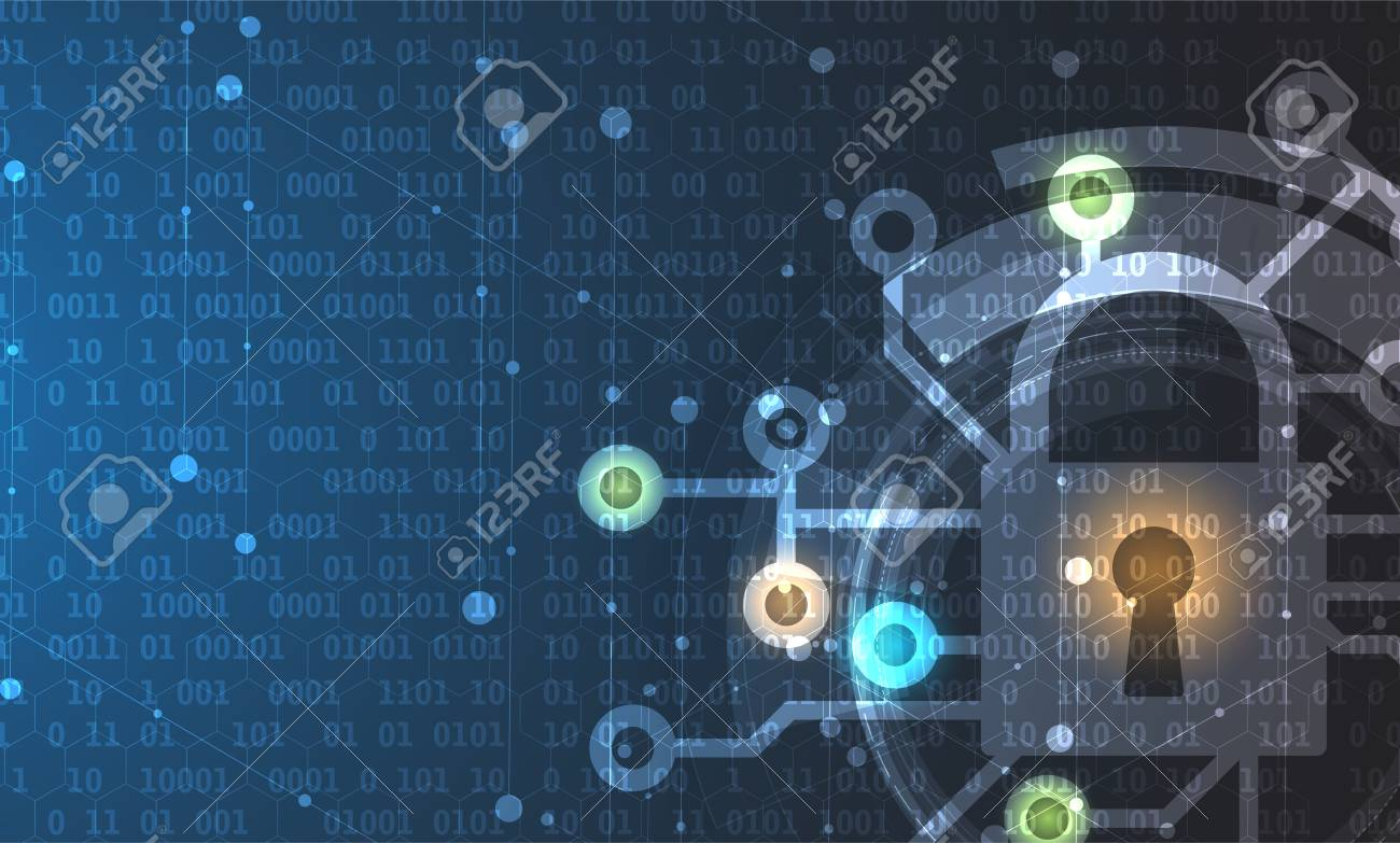 Cyber security and information or network protection. Future cyber technology web services for business and internet project - 79622809