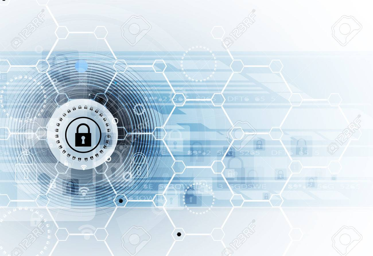 Cyber security and information or network protection. Future cyber technology web services for business and internet project - 79997494