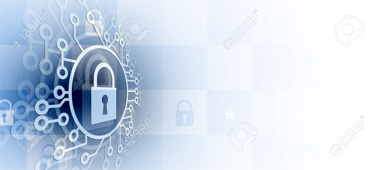 Cyber security and information or network protection. Future cyber technology web services for business and internet project - 95206836